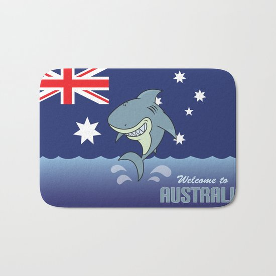 welcome to australia Bath Mat
