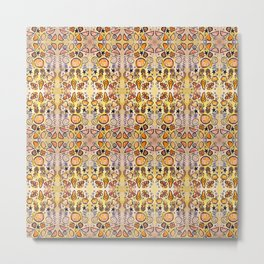 Fruit Out the Wazoot: Psychedelic Kaleidoscope Metal Print