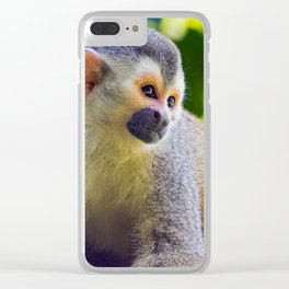 Squirrel monkey - Costa Rica Clear iPhone Case
