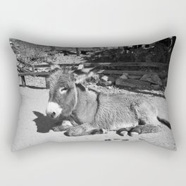 Black and white Burro  Rectangular Pillow
