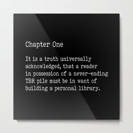 Chapter One - Black Metal Print