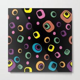 Retro Multicolored Squares Metal Print