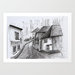 Architecture Sketch, Germany Art Print