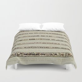 Bayeux Tapestry on cream - Full scenes and description Duvet Cover