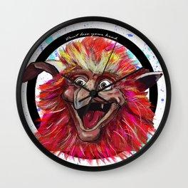 Fiery Circle Wall Clock