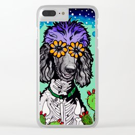 Jude the Parti Poodle Clear iPhone Case