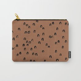 Minimal ink pattern abstract lucky rainbow brush copper Carry-All Pouch