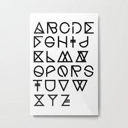"Print ""Geometrical ABC"" Metal Print"
