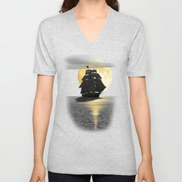 A ship with black sails Unisex V-Neck