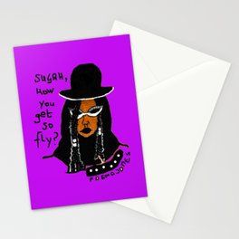 Sugah, How you get so Fly (Purple RAIN) Stationery Cards