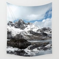 norway Wall Tapestries featuring Northern Norway in the winter by susanneanderssen