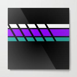 Team Colors 4..Aqua, purple Metal Print