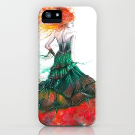 Lady Fire  iPhone Case