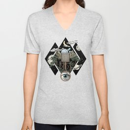Through the looking glass and what i found there Unisex V-Neck