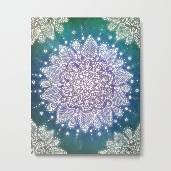 Peacock Mandala Metal Print
