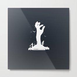 Zombie Hand Metal Print
