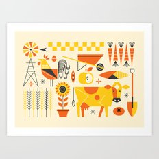 Farm Food Art Print