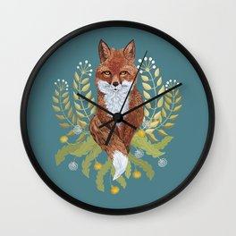 Fox Brown Wall Clock