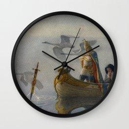 King Arthur and Excalibur Wall Clock