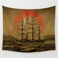 jamaica Wall Tapestries featuring Set Sail - 001 by Lazy Bones Studios