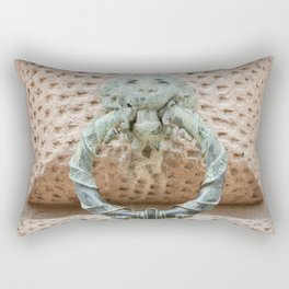 Lion Motif Rectangular Pillow