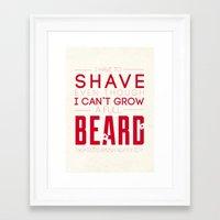 beard Framed Art Prints featuring Beard by PaulWorm