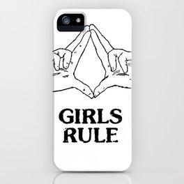 girls rule! iPhone Case