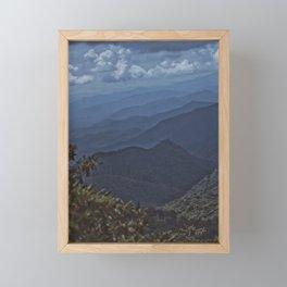 Mountain Layers Framed Mini Art Print