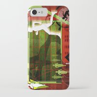 running iPhone & iPod Cases featuring Running by Robin Curtiss