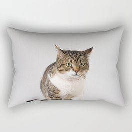 adorable striped cat Rectangular Pillow