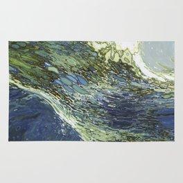 Ebb and Flow Ocean Waves Rug