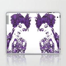 Purple Fashion Floral Laptop & iPad Skin