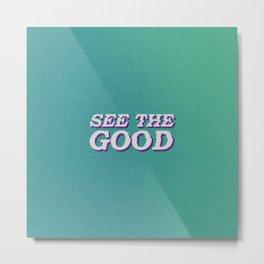 Good Vibes Metal Print