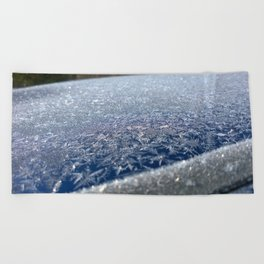 Frost Crystals Beach Towel