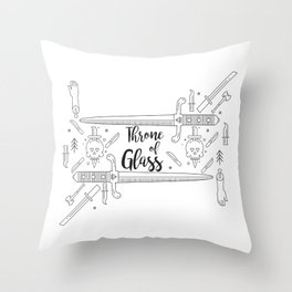 Throne of Glass Throw Pillow