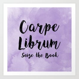 Carpe Librum Purple Art Print