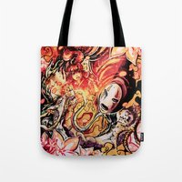 spirited away Tote Bags featuring Spirited Away by Iris-sempi