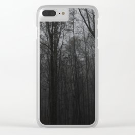 b&w woods Clear iPhone Case