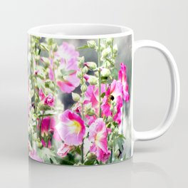 Chuparosa checking out all the Pink Pink Hollyhocks by CheyAnne Sexton Coffee Mug
