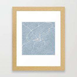 Knoxville Map, USA - Slate Framed Art Print