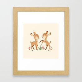 forest animals pattern Framed Art Print