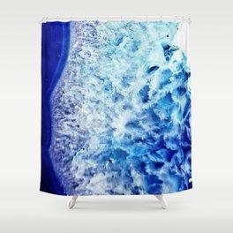 Gemstone Crystal Geode Shower Curtain
