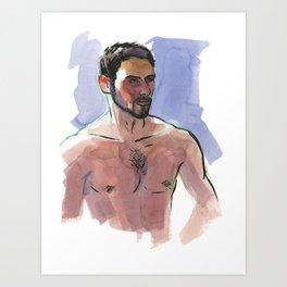 COLBY, Semi-Nude Male by Frank-Joseph Art Print