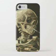 Skull of a Skeleton with Burning Cigarette by Vincent van Gogh iPhone 7 Slim Case