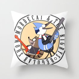 Mordecai and the Rigbys Throw Pillow