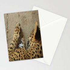 Sleeping leopard Stationery Cards