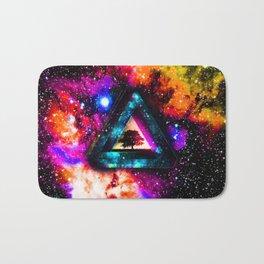 Triangle With Nebula Space Bath Mat