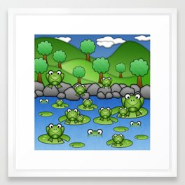 Froggies!  Framed Art Print