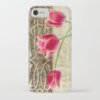 iPhone Cases featuring vintage flowed  by mark ashkenazi