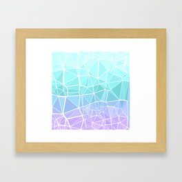 Cyan, Turquoise, and Purple Triangles Framed Art Print